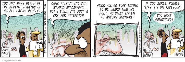 Comic Strip Darrin Bell  Candorville 2014-10-04 Facebook like