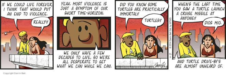 Comic Strip Darrin Bell  Candorville 2014-10-06 violent