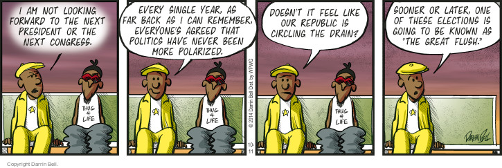 Comic Strip Darrin Bell  Candorville 2014-10-11 forward