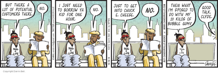 Comic Strip Darrin Bell  Candorville 2014-10-16 24 hours