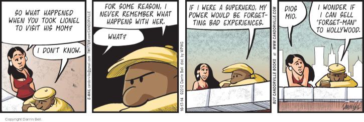 Comic Strip Darrin Bell  Candorville 2014-10-17 superhero