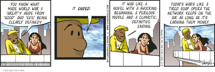 Comic Strip Darrin Bell  Candorville 2014-10-24 shock
