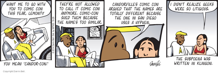 Comic Strip Darrin Bell  Candorville 2014-10-29 event