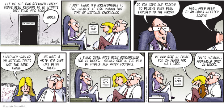 Comic Strip Darrin Bell  Candorville 2014-11-16 quarantine