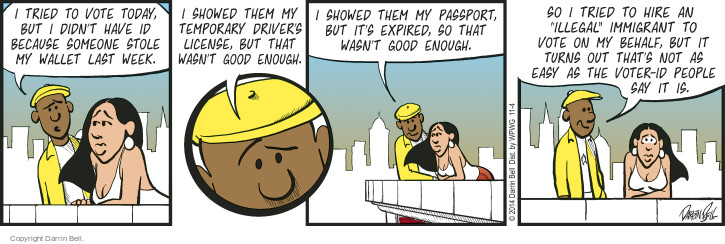 Comic Strip Darrin Bell  Candorville 2014-11-04 illegal immigrant