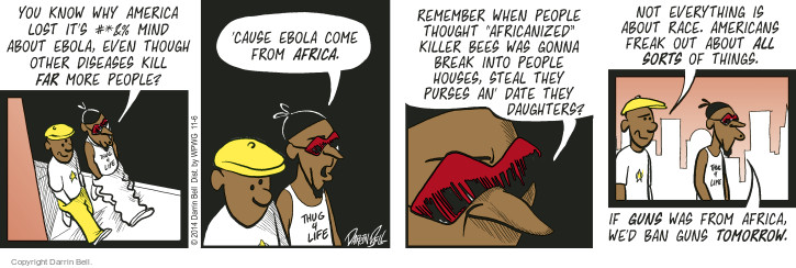 Comic Strip Darrin Bell  Candorville 2014-11-06 killer