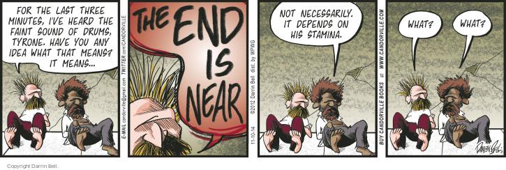 Comic Strip Darrin Bell  Candorville 2014-11-10 apocalypse
