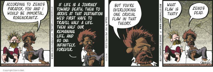 Comic Strip Darrin Bell  Candorville 2014-11-13 life or death