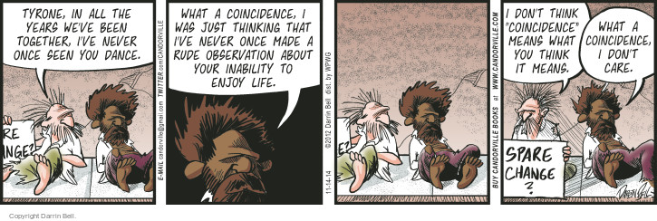 Comic Strip Darrin Bell  Candorville 2014-11-14 rude