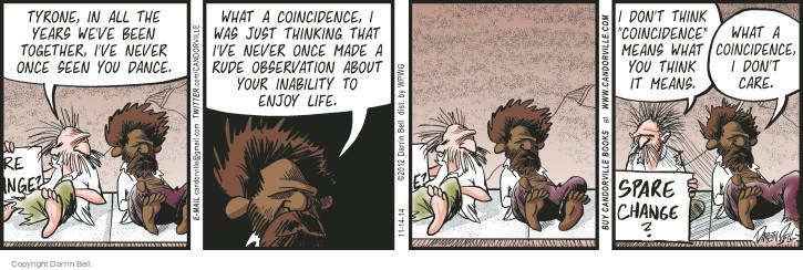 Comic Strip Darrin Bell  Candorville 2014-11-14 dance