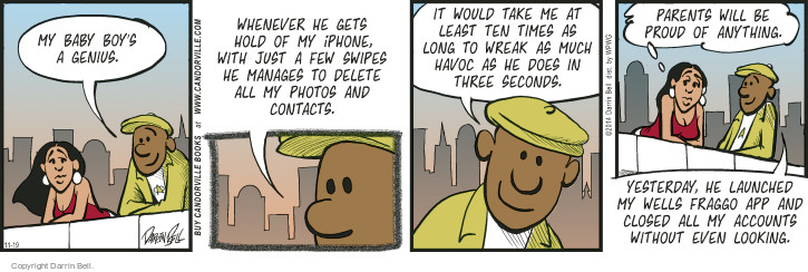Comic Strip Darrin Bell  Candorville 2014-11-19 contact