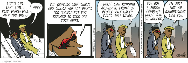 Comic Strip Darrin Bell  Candorville 2014-11-20 basketball