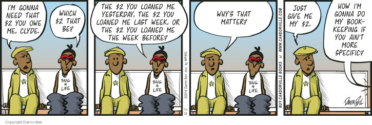 Comic Strip Darrin Bell  Candorville 2014-11-21 personal finance