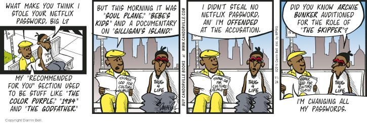 Comic Strip Darrin Bell  Candorville 2014-11-24 genre