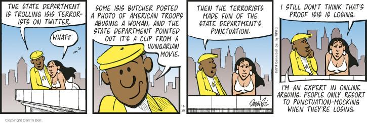 Comic Strip Darrin Bell  Candorville 2014-11-26 abuse