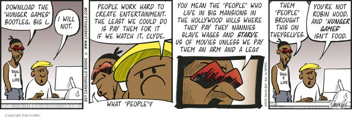 Comic Strip Darrin Bell  Candorville 2014-11-28 movie director