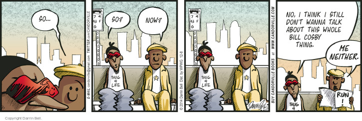 Comic Strip Darrin Bell  Candorville 2014-12-08 accusation