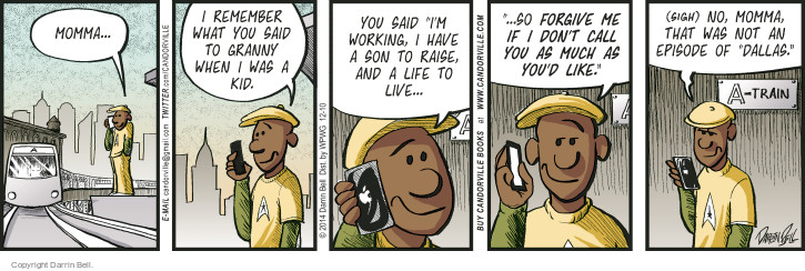 Comic Strip Darrin Bell  Candorville 2014-12-10 telephone