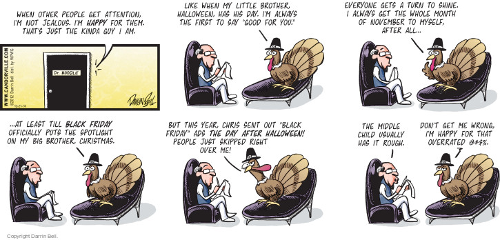 Comic Strip Darrin Bell  Candorville 2014-12-21 Thanksgiving family