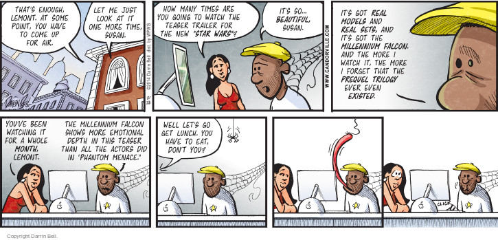Comic Strip Darrin Bell  Candorville 2014-12-28 lunch