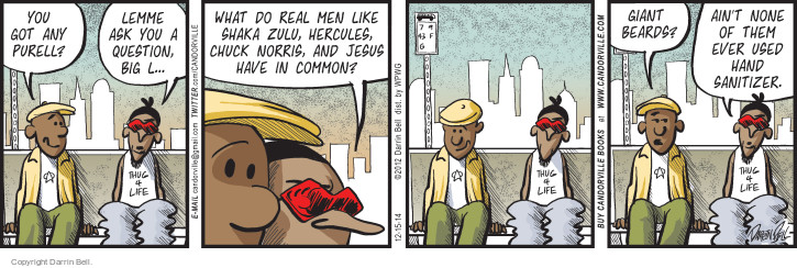 Comic Strip Darrin Bell  Candorville 2014-12-15 real