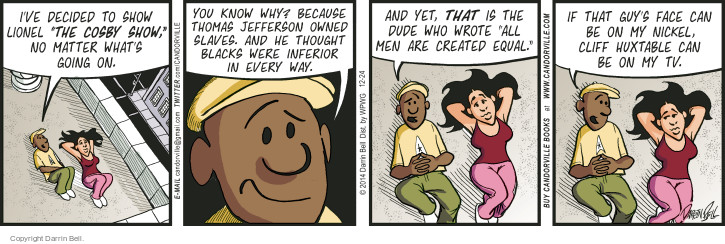 Comic Strip Darrin Bell  Candorville 2014-12-24 sexual assault