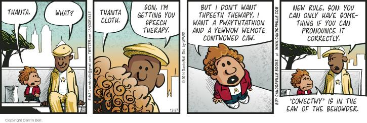 Cartoonist Darrin Bell  Candorville 2014-12-27 claus