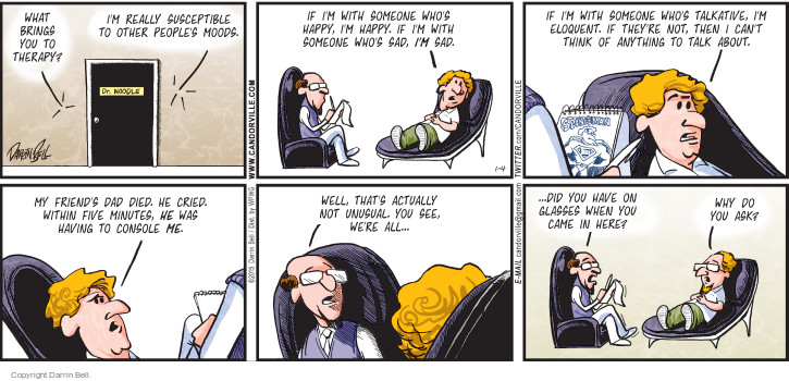 Comic Strip Darrin Bell  Candorville 2015-01-04 psychotherapy