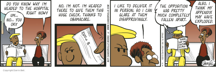 Comic Strip Darrin Bell  Candorville 2015-01-08 insurance payment
