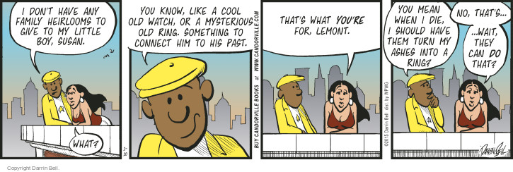 Comic Strip Darrin Bell  Candorville 2015-01-10 connect