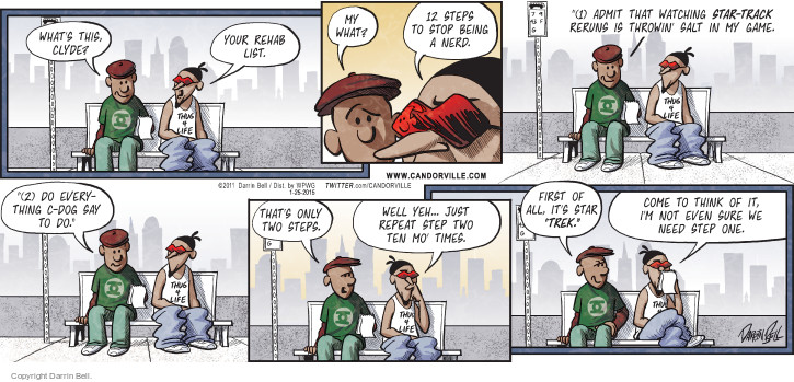 Comic Strip Darrin Bell  Candorville 2015-01-25 repeat