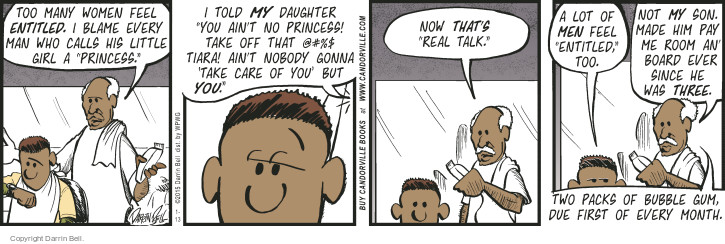 Comic Strip Darrin Bell  Candorville 2015-01-13 father daughter