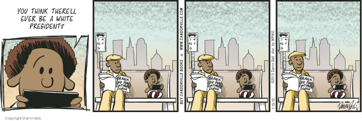 Comic Strip Darrin Bell  Candorville 2015-01-19 Barack Obama