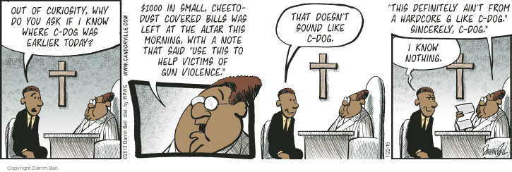 Comic Strip Darrin Bell  Candorville 2015-01-22 church