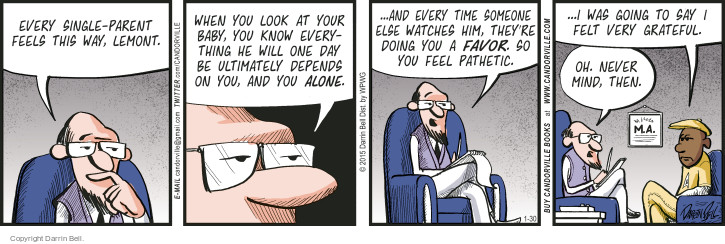 Comic Strip Darrin Bell  Candorville 2015-01-30 responsibility