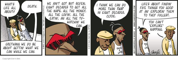 Comic Strip Darrin Bell  Candorville 2015-01-31 eat