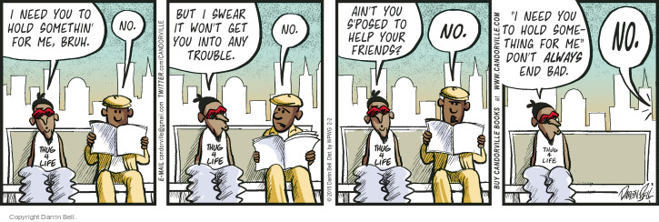 Comic Strip Darrin Bell  Candorville 2015-02-02 refuse