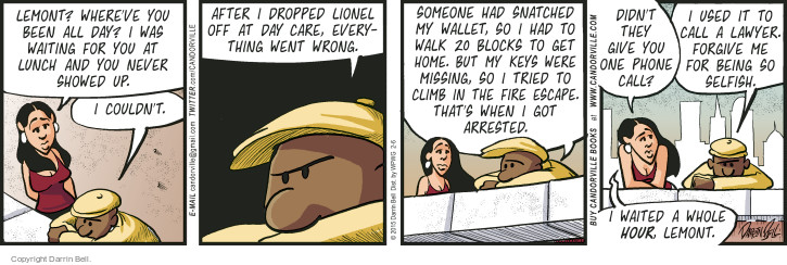 Comic Strip Darrin Bell  Candorville 2015-02-06 block