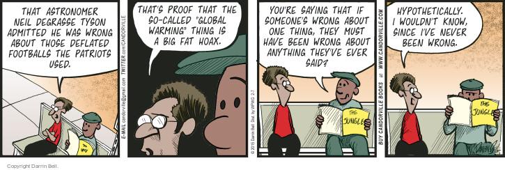 Comic Strip Darrin Bell  Candorville 2015-02-07 fat