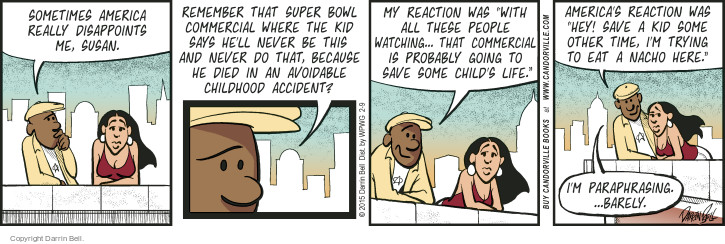 Comic Strip Darrin Bell  Candorville 2015-02-09 reaction