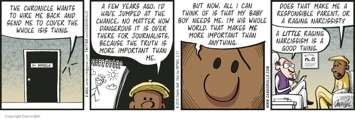 Cartoonist Darrin Bell  Candorville 2015-02-11 good boy