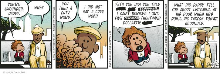 Comic Strip Darrin Bell  Candorville 2015-02-12 tax return