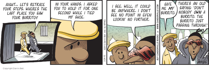 Comic Strip Darrin Bell  Candorville 2015-02-24 expression
