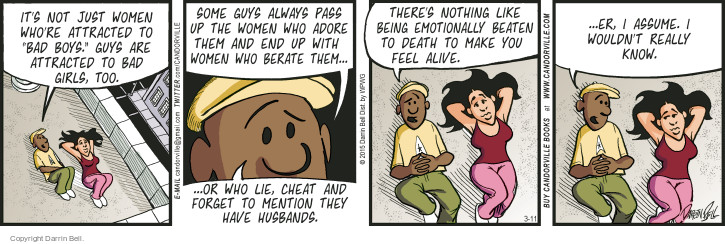 Comic Strip Darrin Bell  Candorville 2015-03-11 feel bad