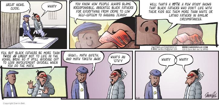 Comic Strip Darrin Bell  Candorville 2015-03-22 involvement