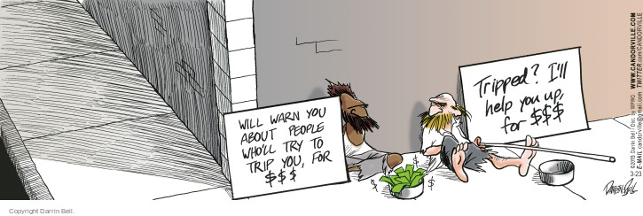 Comic Strip Darrin Bell  Candorville 2015-03-23 risk