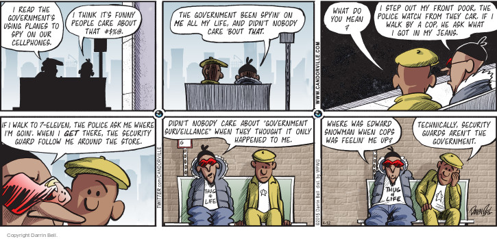 Comic Strip Darrin Bell  Candorville 2015-04-12 spy