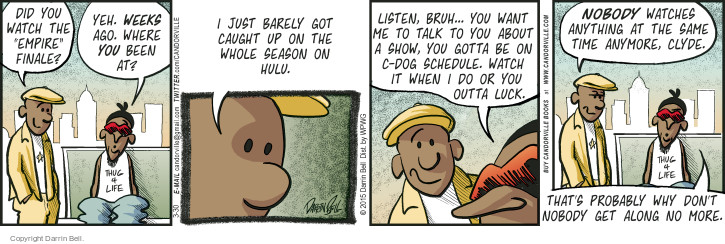 Comic Strip Darrin Bell  Candorville 2015-03-30 barely
