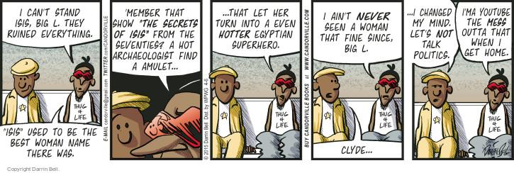 Comic Strip Darrin Bell  Candorville 2015-04-06 Egyptian