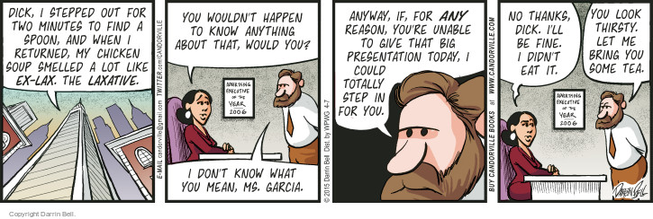 Comic Strip Darrin Bell  Candorville 2015-04-07 colleague